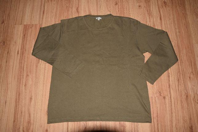 basic line Oliwkowa bluzka z długim rękawem roz L