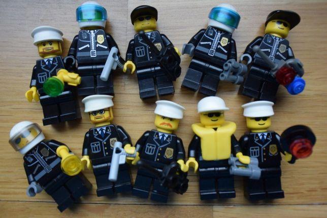 LEGO City Policja Figurka Policjant Broń Kask Czapka Police 10 sztuk