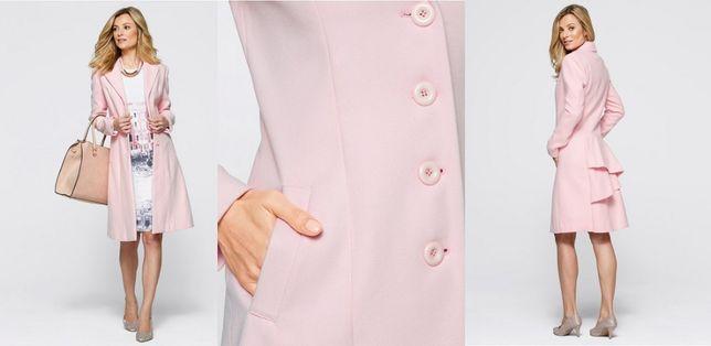 BPC Bodyflirt Piękny płaszcz jasny róż kaszmir 40/42 L/XL