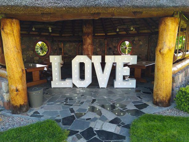 Napis LOVE , ślub, wesele, dekoracje, wynajem ,fontanna