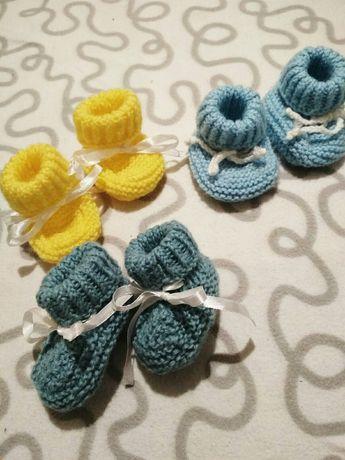 Пинетки вязаные , носки