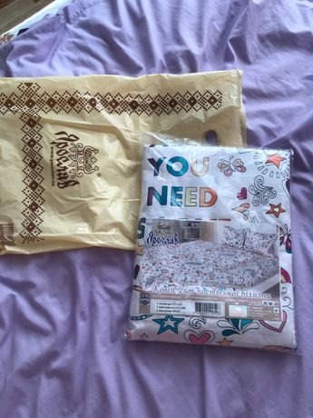 Детский комплект постельного белья новый