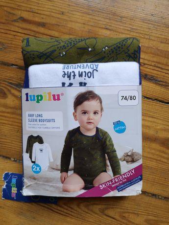 Body z długim rękawem 74/80 bluzki niemowlęce chłopiec chłopczyk