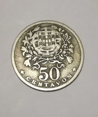 Moeda 50 centavos ano 1947