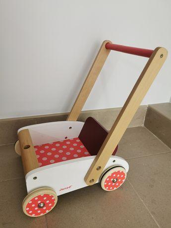 Chodzik, wózeczek, pchacz drewniany