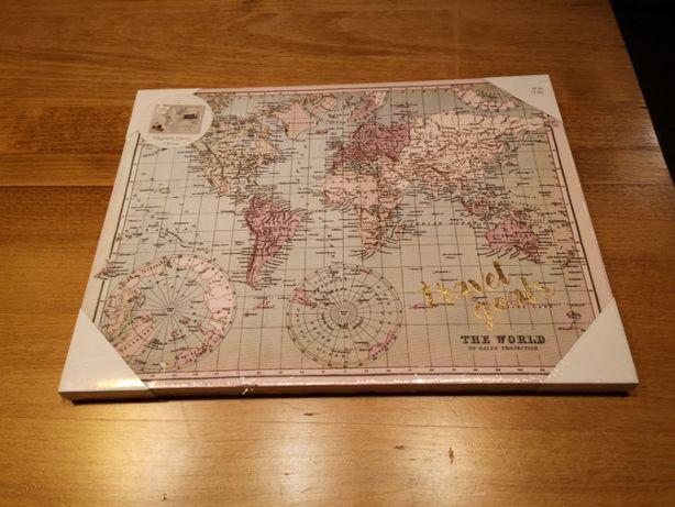 Mapa z magnesami 40x30cm