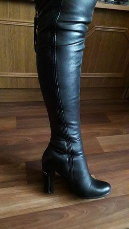 Продам: зимние кожаные сапоги