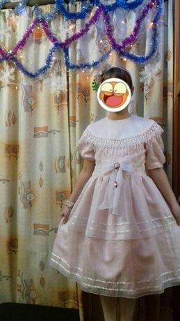 Платье на 5 - 9 лет. Дл.87, ПОТ38, ПОГ41