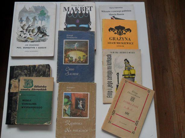 Lektury Makbet, Grażyna, Zemsta, Orso, Sachem, Puc, Filip, Sienkiewicz
