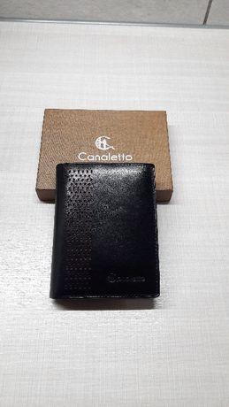 Nowy portfel męski skórzany