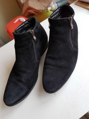 Натуральные замшевые туфли (зима) 42р