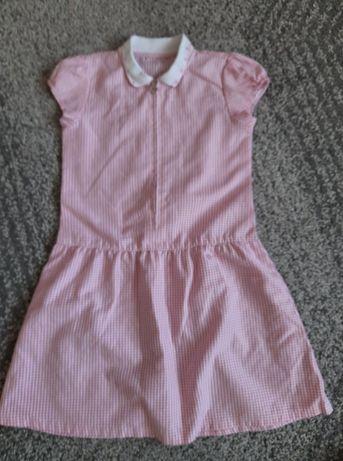 Sukienka RETRO w kratkę AGE na dziewczynkę 7 lat