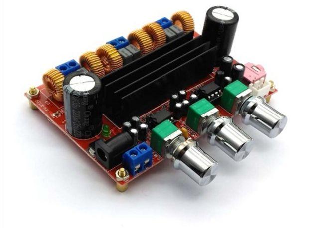 Аудио усилитель XH-M139 TPA3116D2 x 2, 2.1-канальный 2 х 50Вт, 1 х 100
