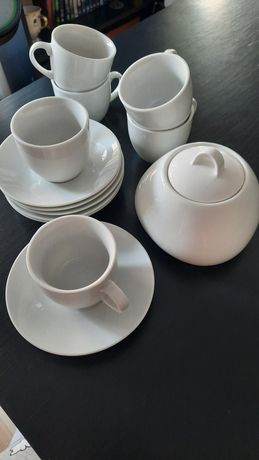 Conjunto chávena café + açucareiro