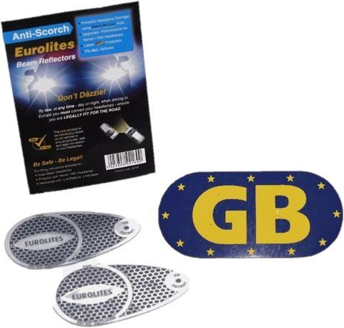 Naklejki na lampy angielskie światła 2 nalepki + gratis magnes GB