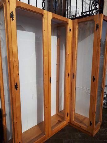 Witryny 100%drewno plus szkło