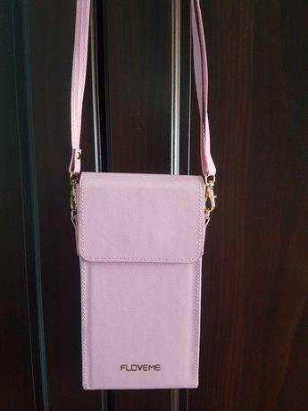 Mini torebka w kolorze bladego różu