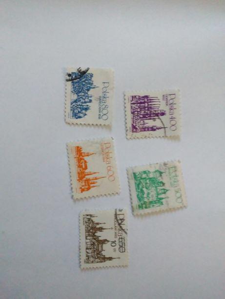 Sprzedam kolekcję znaczków pocztowych POLSKA 5szt.