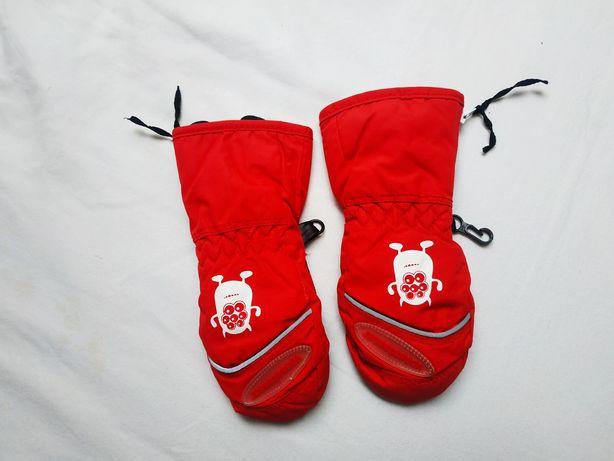 Vossatassar Rękawiczki r. S Wodoodporne  NOWE Czerwone na Śnieg