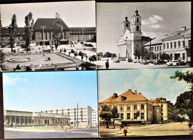 Suwałki,Kielce,Gliwice,Błonie,Wołomin,Ustka - stare pocztówki - zestaw