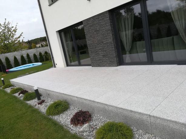 Granit Płytki Chodnikowe 40x40x4 Płyty Granitowe na taras kamień Szary