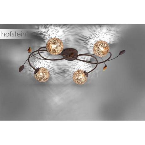 Stylowa elegancka lampa sufitowa złota/brązowa GRETA 6395-48 Paul Neu