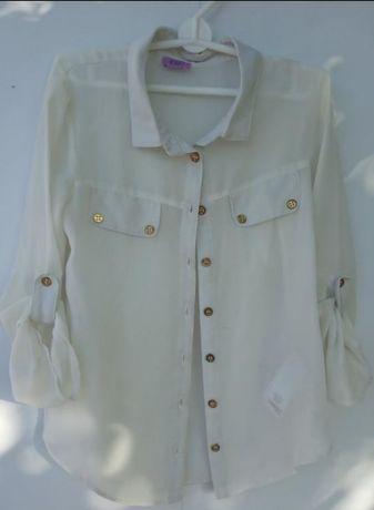 Школьная блуза, блузка шифоновая, рубашка