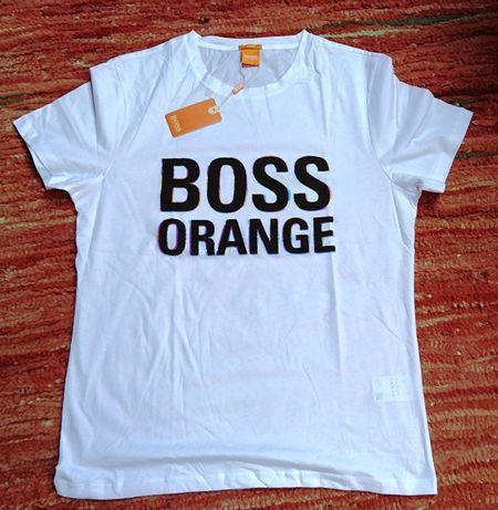 Hugo Boss Orange t-shirt męski XL biały NOWY LOGO HIT!
