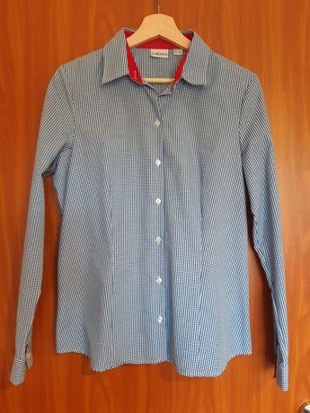 Koszula niebieska w kratkę L/40
