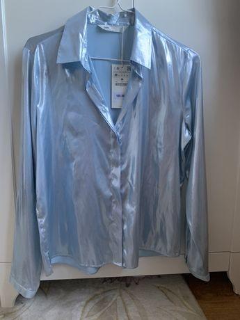 Блуза нежно голубая Zara Зара