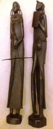 Escultura em PAU PRETO arte, africana