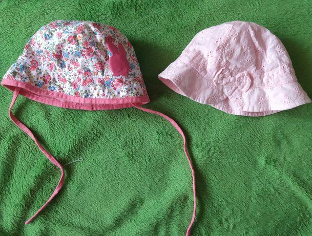 Letnie kapelusiki dla dziewczynki, rozm 62/68