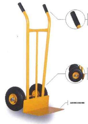 Carro Carrinho de Armazém rodas borracha pneumática capacidade 300 kg