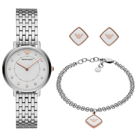 Женские часы EMPORIO ARMANI AR80023 'KAPPA' (набор)