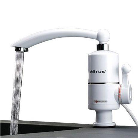 Проточный мгновенный нагреватель воды смеситель бойлер кран Delimano