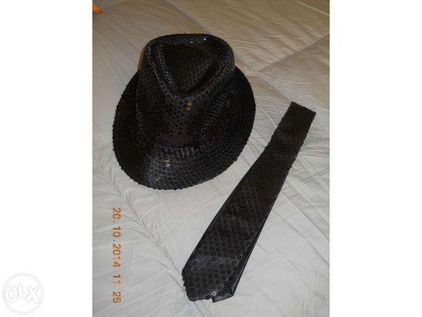 Acessório para artista - chapéu e gravata