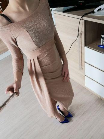 Brokatowa sukienka r. S