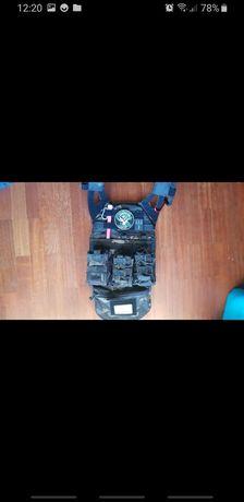 Colete airsoft multicam black