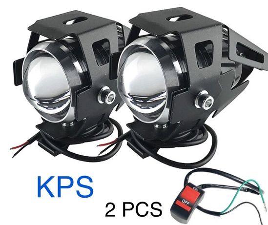 Faróis moto/Foco auxiliares Led 125w 9600Lm