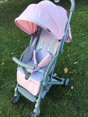 Wózek Kinderkraft spacerówka różowa +parasolka i śpiworek