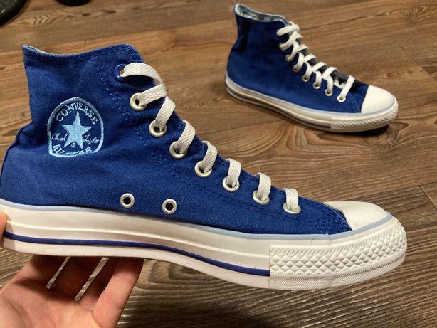 Кеды Converse All Stars синие высокие оригинал UNISEX размер 40 б у