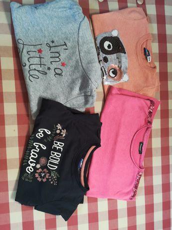 Bluzy, sweterki dla dziewczynki roz 110 C&A, Lupilu
