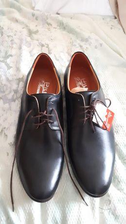 Nowe eleganckie buty męskie skórzane r. 40