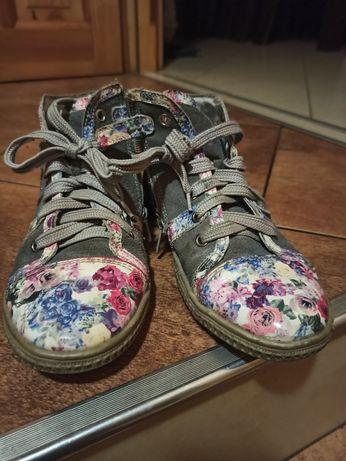 Buty dziewczęce skórzane jesienne 35 BARTEK