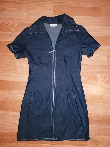 Jeansowa tunika/sukienka S 36