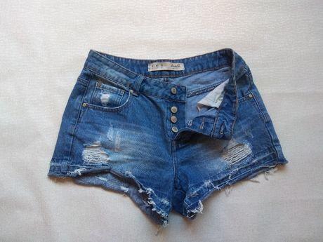 Крутые джинсовые шорты с дырками 12/40 L-XL шорти джинсові