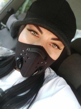 Хит цена маска защитная за шею ,респиратор + запасной фильтр в подарок