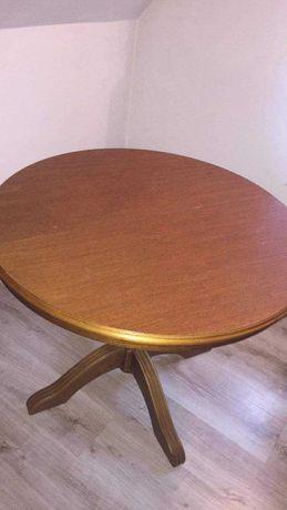 Stolik kawowy, duza ława oraz 2 krzesla
