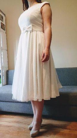Suknia ślubna biała rozmiar 44