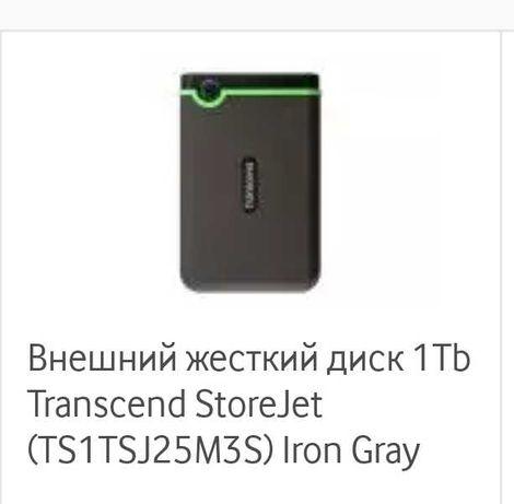 Внешний жесткий диск 1Tb Transend StareJet (TS1TSJ25M3S)